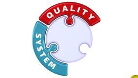 Administración de sistemas de la calidad La marca de verificación bajo la forma de rompecabezas libre illustration