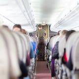 Administrador en el aeroplano Imagenes de archivo