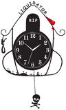 Administrador judicial viejo del reloj de pared libre illustration