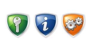 administratörsymboler Arkivfoton