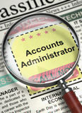Administrateur Job Vacancy de comptes 3d photo stock