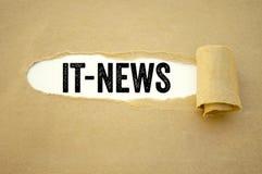 Administratie met het nieuws royalty-vrije stock fotografie
