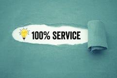 Administratie met verfrommelde document gloeilamp met 100%-de dienst royalty-vrije stock foto