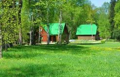 Administratieve gebouwen museum-Reserve Abramtsevo Het Gebied van Moskou, Rusland stock afbeelding