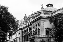 Administration, Ancient, Architecture, Black-and-white royalty free stock image