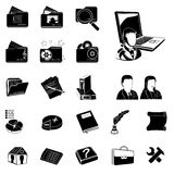 Administration black  icons Royalty Free Stock Photo