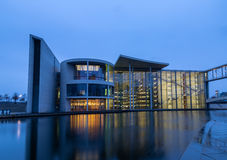 Administration building, Berlin. Administration building at Spree river in Berlin in the evening Royalty Free Stock Images
