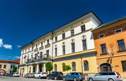 Administration building in the old town of Levoca, Slovakia. Administration building in the old town of Levoca. A UNESCO world heritage site in Slovakia stock images
