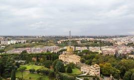 Administration building and radio masts at Vatican City Royalty Free Stock Image