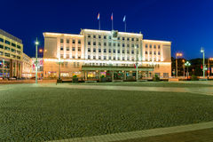 Administration of city district on Victory square, Kaliningrad Royalty Free Stock Photography