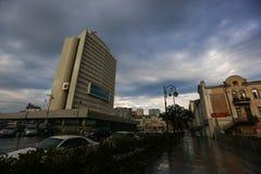 Administration de sant? du territoire de Primorsky apr?s la pluie contre le contexte d'un beau ciel image stock