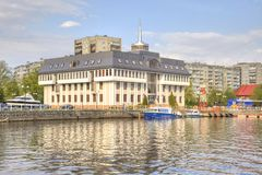 Administration du port maritime de Kaliningrad photos stock