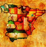 Administration map of spain Stock Image