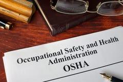 Administration OSHA för yrkes- säkerhet och hälso royaltyfria foton