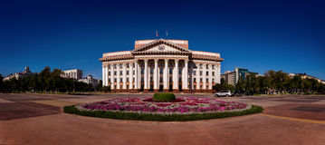 Administration of the Tyumen region. In day lighting Stock Photos