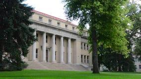 Administrativ byggnad för Colorado delstatsuniversitet i Fort Collins, Colorado arkivfilmer