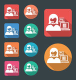 Administrative Assistant icon Royalty Free Stock Photos