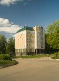 Administrative building in city Vyazniki,Russia. Administrative building on background blue sky in city Vyazniki,Russia Stock Photography