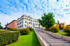 Administrative building of the municipality Grottaferrata Royalty Free Stock Photos