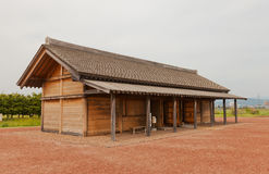 Administrative building of Shiwa Castle, Morioka city, Japan. Reconstructed administrative building of Shiwa Castle in Morioka, Japan. Castle was erected in 803 Stock Image