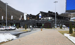 Administrative building of ski complex Alpika Royalty Free Stock Photography