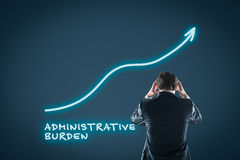 Administrative burden growth stock image