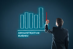 Administrative burden reduction royalty free stock photos