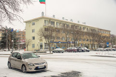 The administrative center of Pomorie in Bulgaria Royalty Free Stock Photo
