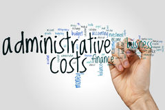 Administrative costs word cloud concept on grey background.  Stock Images
