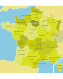 Administrative divisions of France Stock Photos