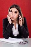 Administrative müde Frau Stockbilder