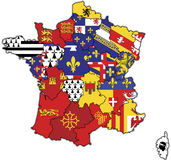 Administrative map of france Stock Photos