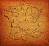 Administrative map of france Stock Images