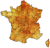Administrative map of france Stock Photo