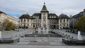 Administrative Palace in Craiova city center, Romania