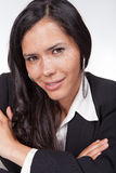 Administrative smiling woman. With a smile Stock Image