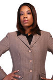 Administrative woman. Isloated on white background stock photography