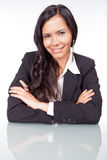Administrative woman smiling. Young and beautiful executive woman smiling Stock Images
