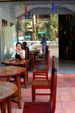 Administrator cafe in Cambodia. Royalty Free Stock Image