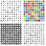 100 administrator icons set vector variant. 100 administrator icons set vector in 4 variant for any web design isolated on white Royalty Free Stock Photos