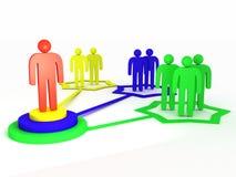 administrator sieć ilustracja wektor