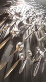 Administre la décoration à la cuillère sur le mur Photo stock