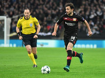 Admir Mehmedi. Football players pictured during UEFA Champions League Group E game between Tottenham Hotspur and Bayer Leverkusen on November 2, 2016 at Wembley Royalty Free Stock Photography