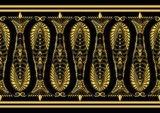 Admirable Gold Pattern royalty free illustration