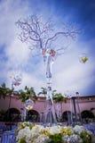 Admirablement décoré épousant le lieu de rendez-vous Image libre de droits