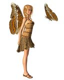 Admiral Butterfly Fairy - 1 royalty free stock photo