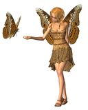Admiral Butterfly Fairy - 3 stock photo