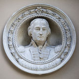 Admiral Collingwood Medallion Bust in Greenwich Lizenzfreies Stockfoto