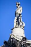 Admiral Horatio Nelson Statue auf Nelsons-Spalte Lizenzfreies Stockfoto