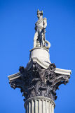 Admiral Horatio Nelson Statue on Nelsons Column Royalty Free Stock Image